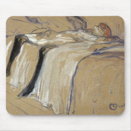 Woman lying on her Back - Lassitude Mouse Pad