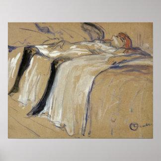 Woman lying on her Back - Lassitude Print