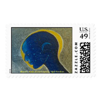 Woman Made of the Cosmos (Head)/Stamp