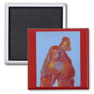 Woman-magnet 2 Inch Square Magnet