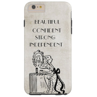 Woman Mirror Retro Strong Beautiful Confident Tough iPhone 6 Plus Case