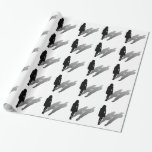 Woman Missing Man Silhouette Gift Wrap Paper