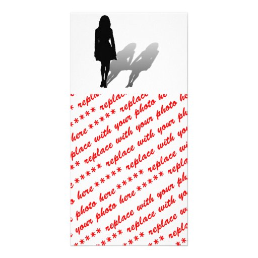 Woman Missing Woman Photo Greeting Card