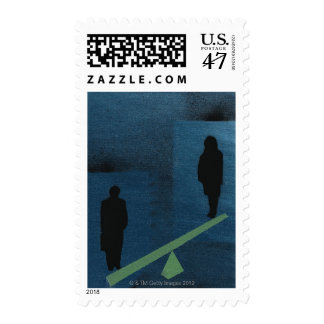 Woman Not Carrying Equal Weight Postage
