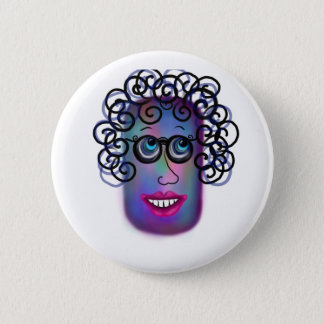 Woman Of Expressions Button