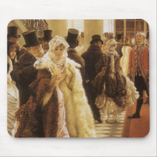 Woman of Fashion by Tissot, Vintage Victorian Art Mouse Pad