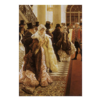 Woman of Fashion by Tissot, Vintage Victorian Art Poster