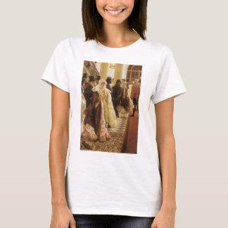 Woman of Fashion by Tissot, Vintage Victorian Art T-Shirt