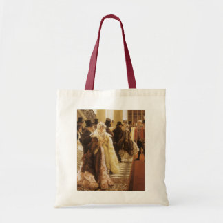 Woman of Fashion by Tissot, Vintage Victorian Art Tote Bag