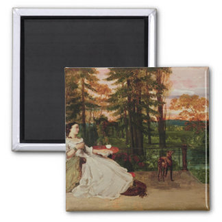 Woman of Frankfurt, 1858 2 Inch Square Magnet