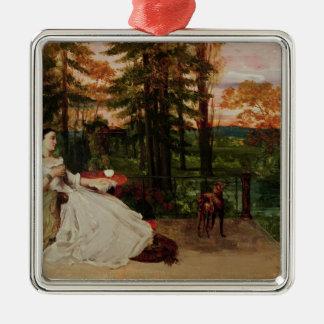 Woman of Frankfurt, 1858 Metal Ornament