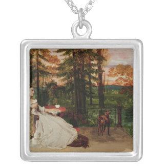 Woman of Frankfurt, 1858 Square Pendant Necklace