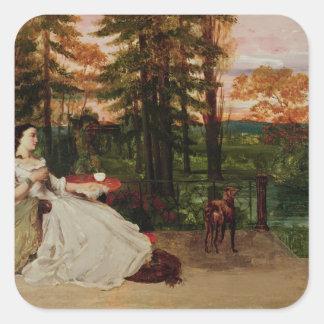 Woman of Frankfurt, 1858 Square Sticker