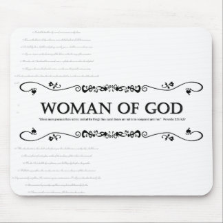 Woman of God: Vintage Style w/ Verses from Psalms Mousepads
