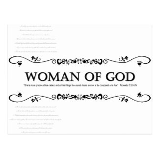 Woman of God: Vintage Style w/ Verses from Psalms Postcard
