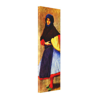 WOMAN OF KALOCSA IN WORK-DAY DRESS CANVAS PRINT