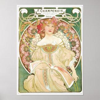 Woman of Leisure Alphonse Mucha Illustration Poster