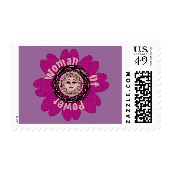 Woman Of Power Flower Postage