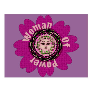 Woman Of Power Flower Post Cards