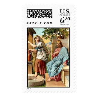 woman of samaria stamp postage