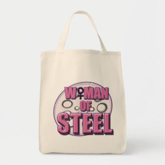 Woman of Steel tote Grocery Tote Bag