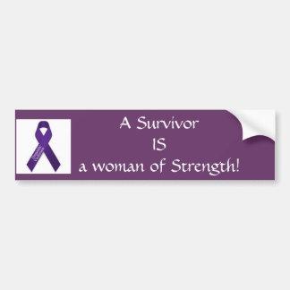 Woman of Strength! Car Bumper Sticker