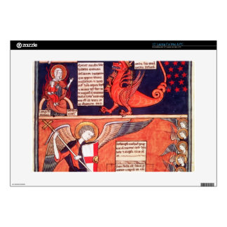 """Woman of the Apocalypse Being Attacked by the Seve 15"""" Laptop Skin"""