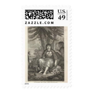 Woman of the French Port Stamps