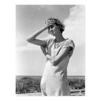 Woman of the High Plains Postcard