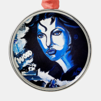 Woman of the World Metal Ornament