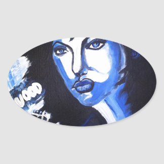 Woman of the World Oval Sticker