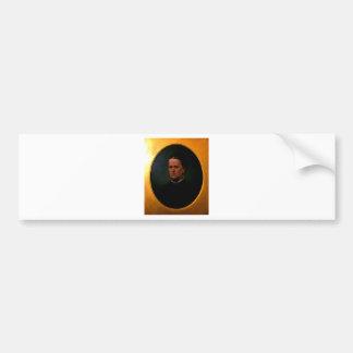 Woman, old oil portrait bumper sticker