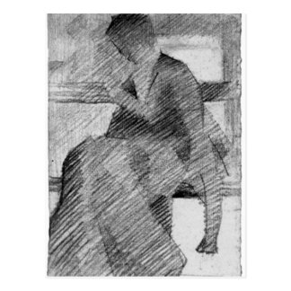 Woman on a bench by Georges Seurat Postcard