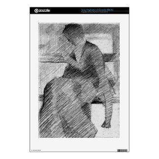 Woman on a bench by Georges Seurat Decal For The PS3