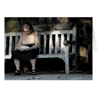 Woman on a Bench Stationery Note Card
