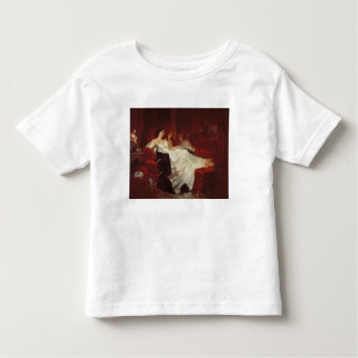 Woman on a red sofa toddler t-shirt