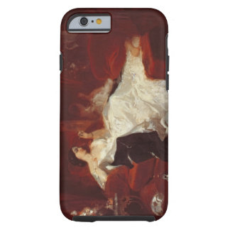 Woman on a red sofa tough iPhone 6 case
