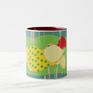woman on beach mug