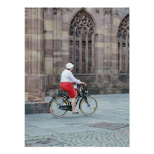 woman on bicycle poster