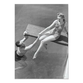 Woman on Diving Board Card
