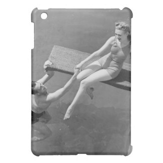 Woman on Diving Board iPad Mini Covers