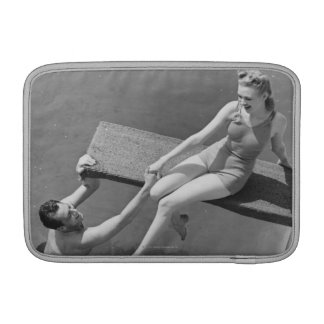 Woman on Diving Board MacBook Air Sleeve