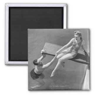 Woman on Diving Board Magnet