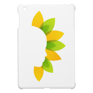Woman on green and yellow leaves case for the iPad mini