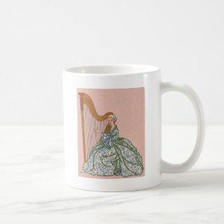 Woman on Harp Coffee Mug