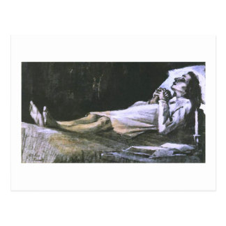 Woman on her Deathbed Van Gogh Fine Art Postcard