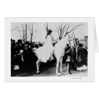 Woman on Horse Woman's Suffrage Parade Photograp Card