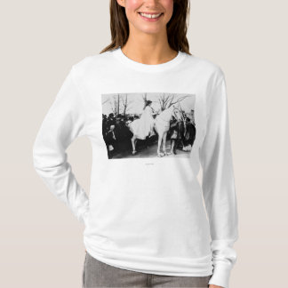 Woman on Horse Woman's Suffrage Parade Photograp T-Shirt