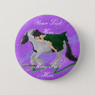Woman on Horseback Button