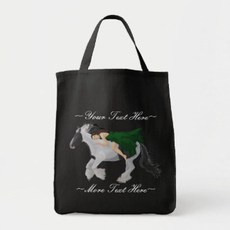 Woman on Horseback Tote Bag